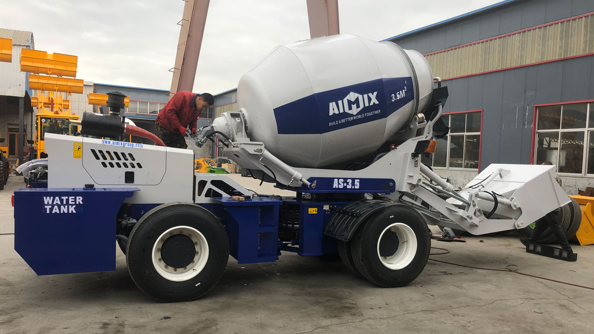 As-3.5C Self-Loading Mixer Truck Is Is Being Shipped To Somalia