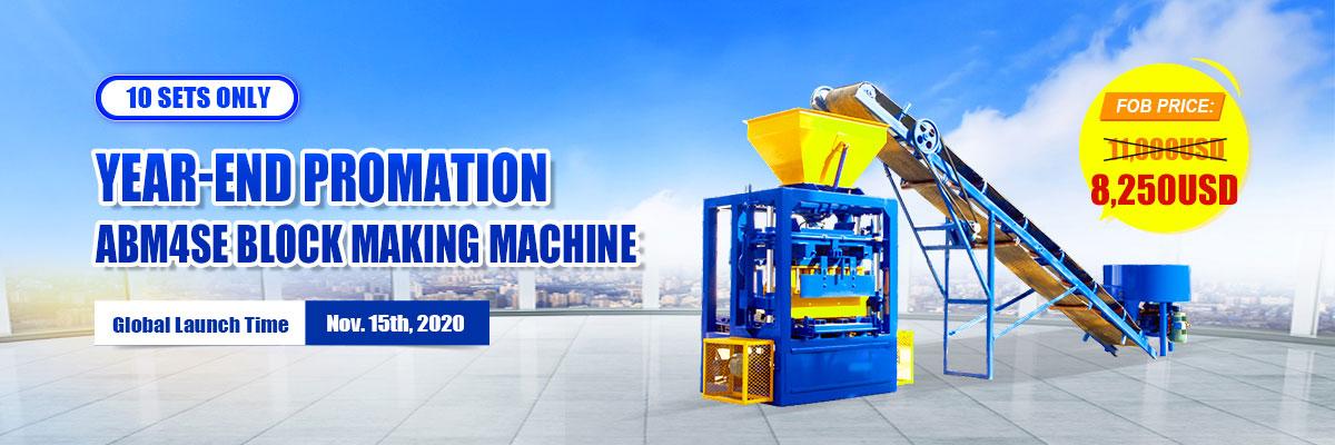 Year-End Promotion ABM-4S Block making machine