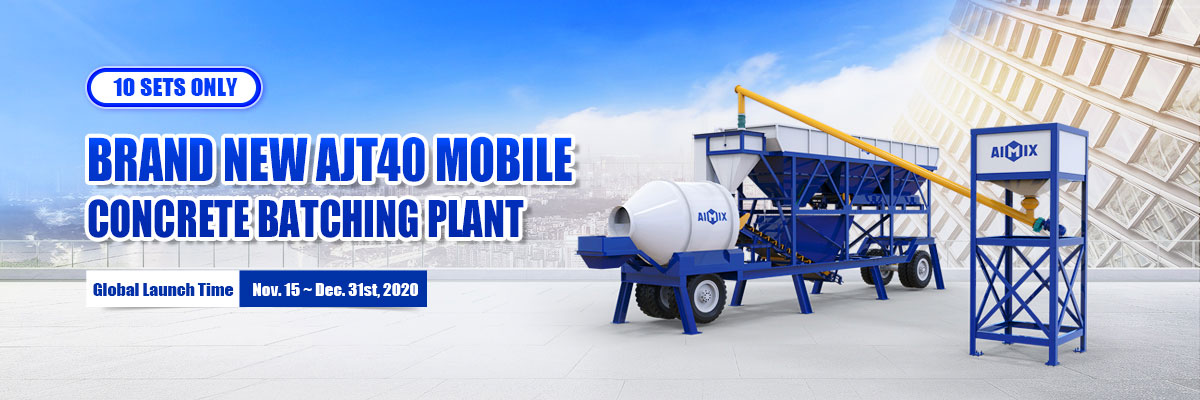 Year End Promotion AJT40 Mobile Concrete Batching Plant in Lowest price!