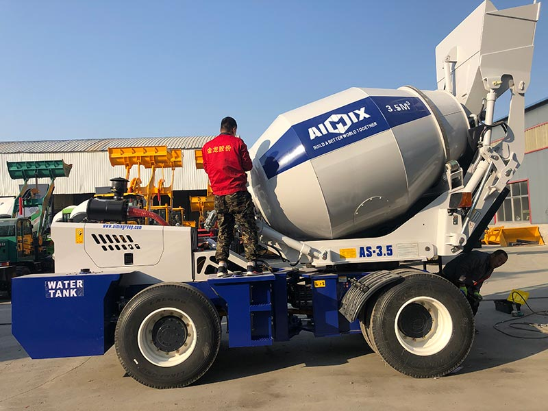 3.5C Self Loading Mixer Truck sent to the Philippines