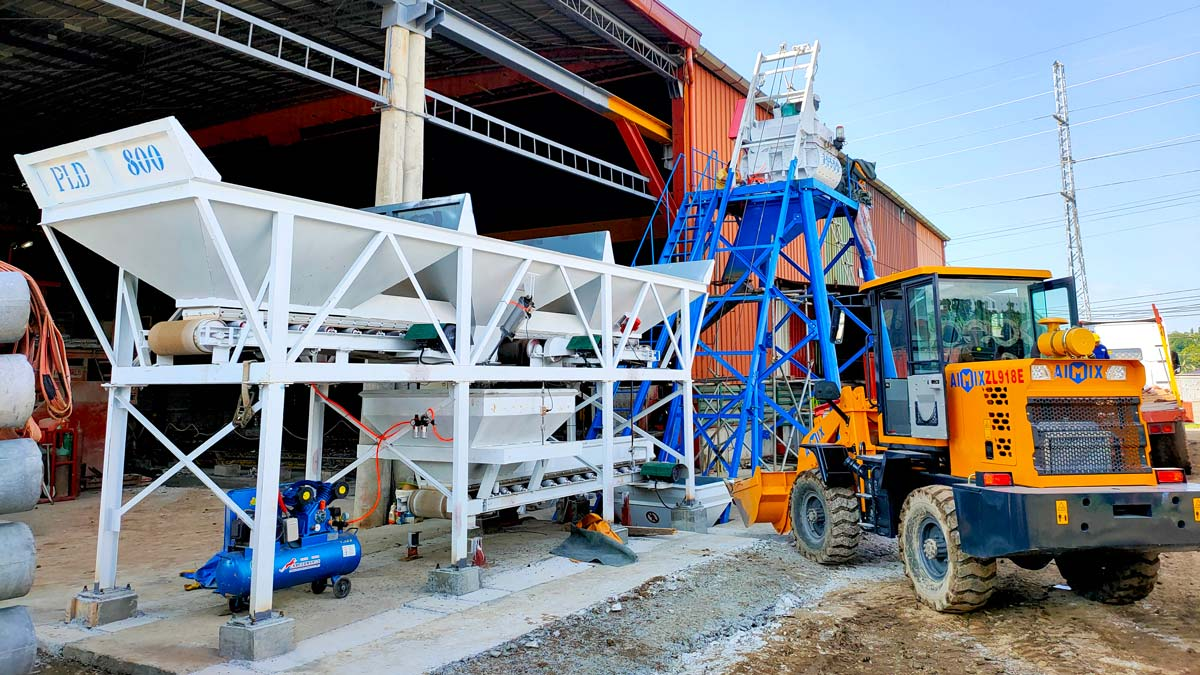 AJ-25 Mini Concrete Batching Plant in Bacold city Philippines