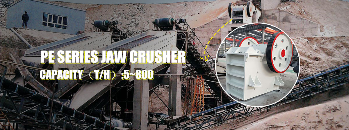 PE series jaw crusher used in crushing production lin in the Philippines