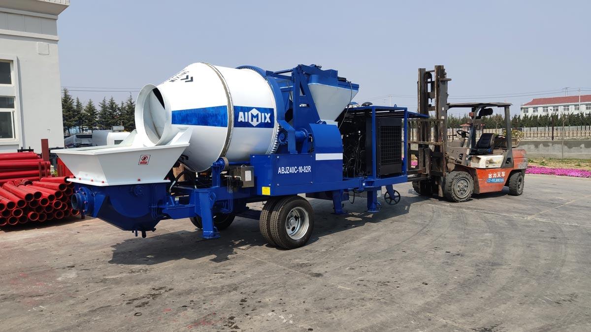 ABJZ40C diesel concrete mixer pump in our factory