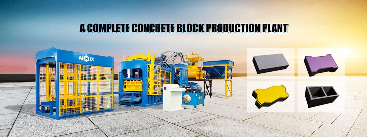 Concrete block production line