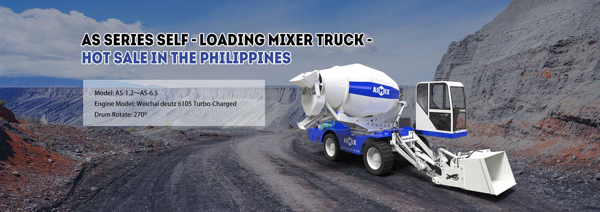AS Series Self-loading Mixer Truck - Hot Sale In The Philippines